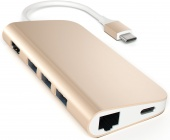 USB-концентратор Satechi Aluminum Type-C Multi-Port Adapter (Gold)