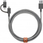 Кабель для iPod, iPhone, iPad Native Union Belt Universal (BELT-KV-ULC-ZEB-V2) USB to Lightning/microUSB/USB-C 2m (Zebra)