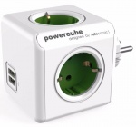 Разветвитель Allocacoc PowerCube Original (1202GN/DEOUPC) 2 USB (Green)