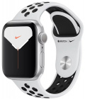 Умные часы Apple Watch Nike Series 5 40 mm MX3R2RU/A (Silver Case/Pure Platinum & Black Band)