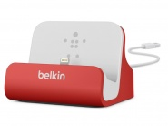 Док-станция Belkin Charge + Sync Dock для iPhone (Red)
