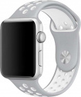 Ремешок COTEetCI W12 (WH5217-TS-WH) для Apple Watch series 2/3/4 42/44mm (Silver/White)