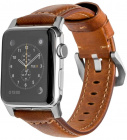 Ремешок Nomad Traditional Strap (NM1A4RST00) для Apple Watch Series 2/3/4 42/44 mm (Brown/Silver)
