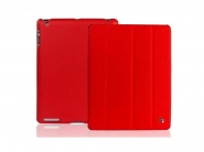 Jison Smart Leather Case Red чехол для iPad 2/3/4